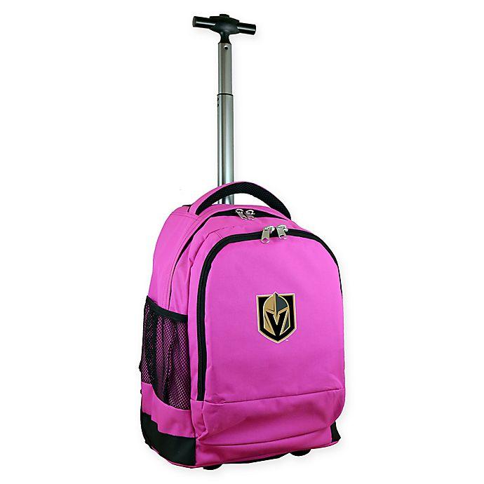 Alternate image 1 for NHL Vegas Golden Knights 19-Inch Wheeled Backpack in Black