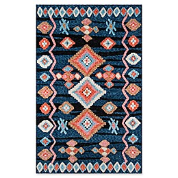 Momeni Margaux Geometric 9' x 12' Area Rug in Navy