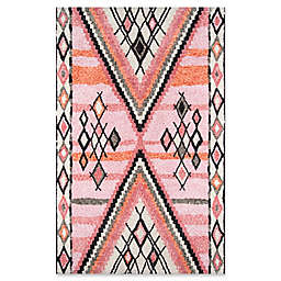 Momeni Margaux Geometric 5' x 7'6 Area Rug in Pink