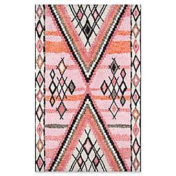 Momeni Margaux Geometric Rug in Pink