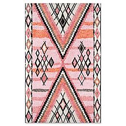 Momeni Margaux Geometric 9' x 12' Area Rug in Pink