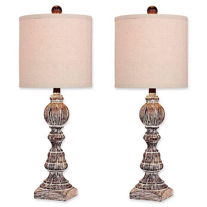 Alternate image 1 for Fangio Lighting Balustrade Table Lamp (Set of 2)