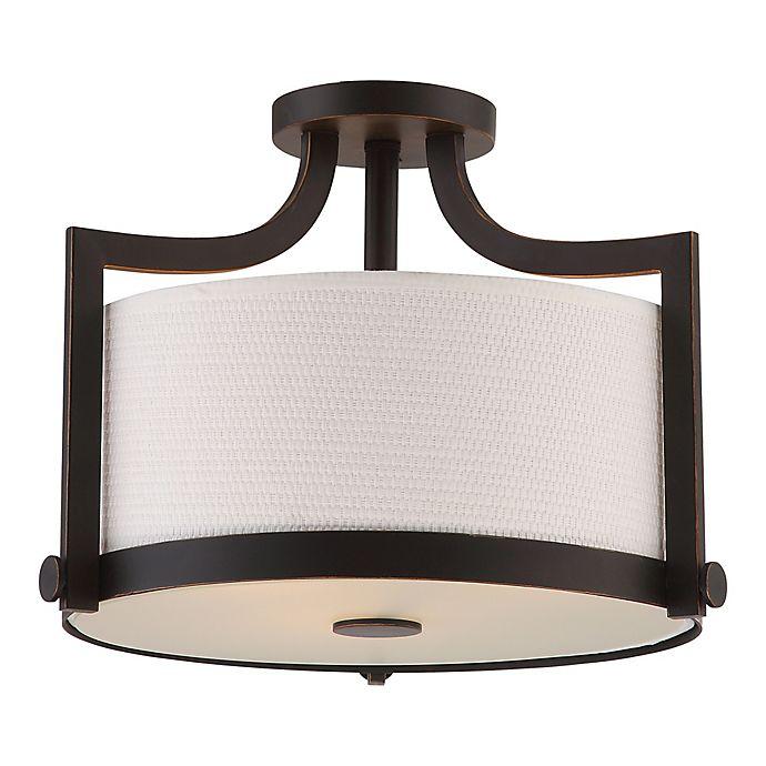 Alternate image 1 for Filament Design Russet 3-Light Semi-Flush Mount Ceiling Light in Bronze