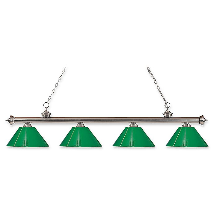 Alternate image 1 for Filament Design Reese 4-Light Pendant in Brushed Nickel with Green Plastic Shades