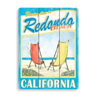 Redondo Beach Planked Wood Sign Bed Bath Amp Beyond