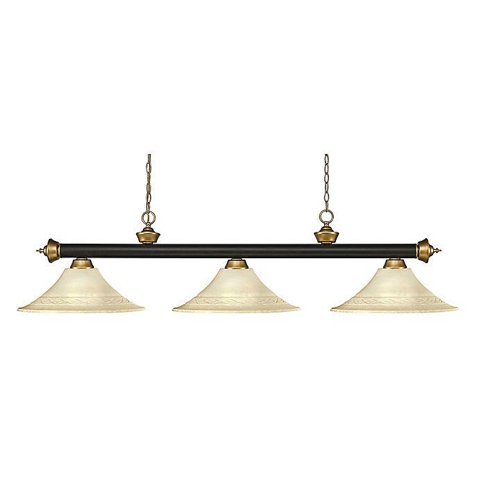 Alternate image 1 for Filament Design Reese 3-Light Pendant in Traditional Bronze/White