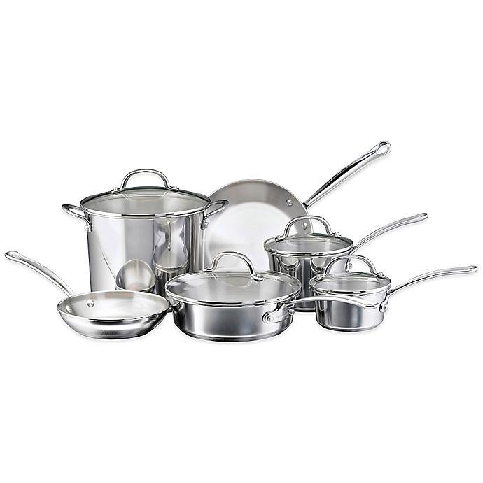 Alternate image 1 for Farberware® Millennium Stainless Steel 10-Piece Cookware Set