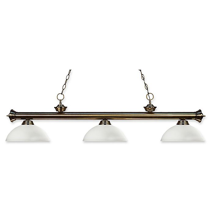 Alternate image 1 for Filament Design Reese 3-Light Island Light in Antique Brass with Opal Matte Glass Shades