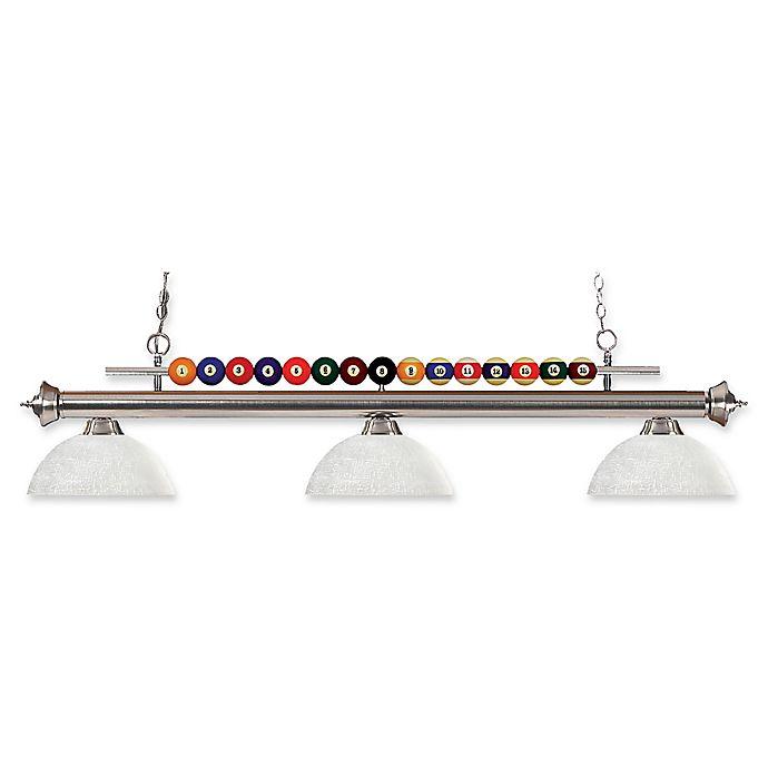 Alternate image 1 for Filament Design Sandy 3-Light Island Fixture in Brushed Nickel/White