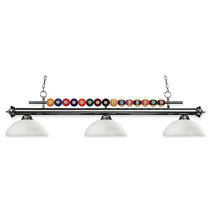 Alternate image 1 for Filament Design Sandy 3-Light Island Fixture in Gunmetal/Opal