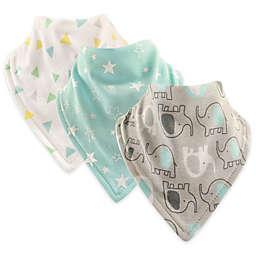 Hudson Baby® 3-Pack Elephant Cotton Bandana Bibs