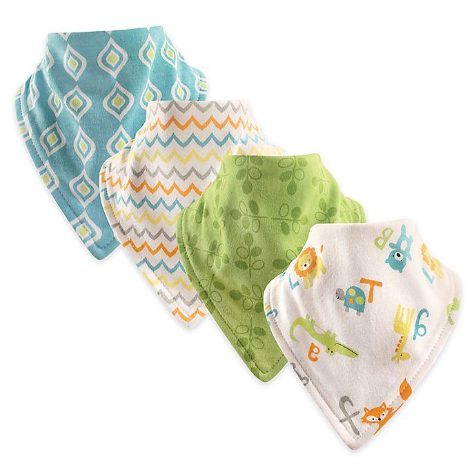 Alternate image 1 for Hudson Baby® 4-Pack Cotton Bandana Bibs