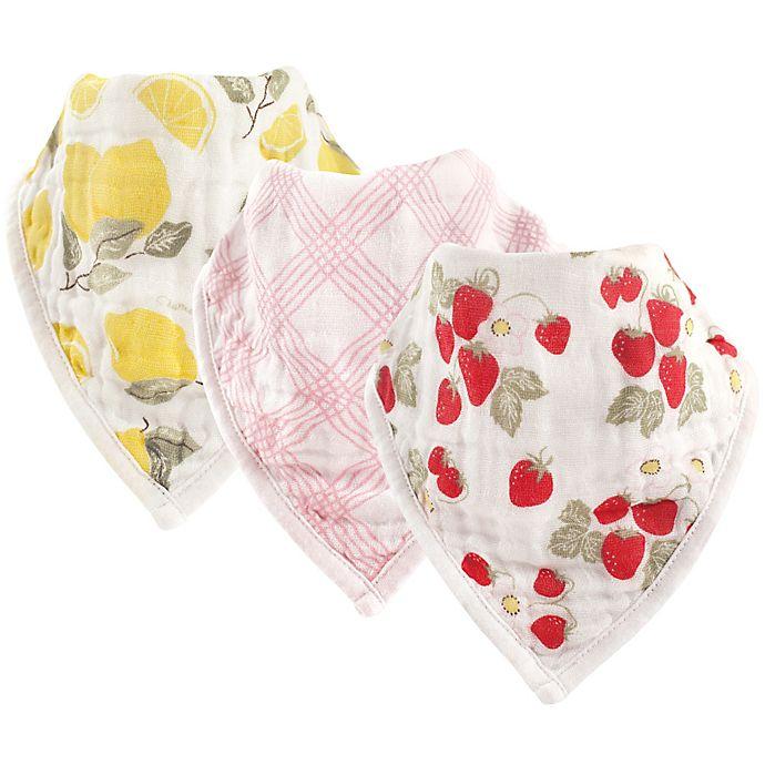 Alternate image 1 for Hudson Baby® 3-Pack Fruit Muslin Bandana Bibs