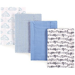 Luvable Friends® 4-Pack Plane Flannel Burp Cloths