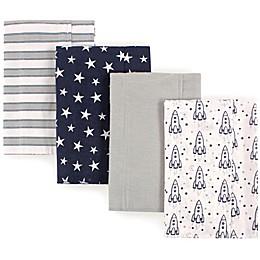 Luvable Friends® 4-Pack Rocket Flannel Burp Cloths