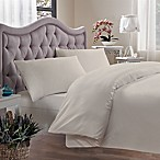Brielle 400-Thread-Count King Duvet Cover in Ivory