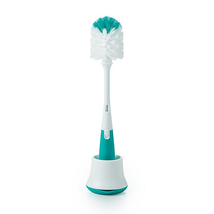 Alternate image 1 for OXO Tot® Bottle Brush with Stand in Teal