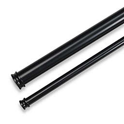 Cambria® Premier Complete 88 to 144-Inch Adjustable Double Curtain Rod in Satin Black