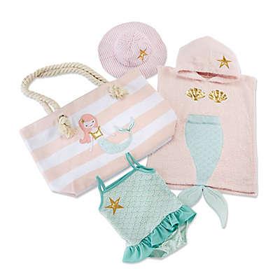 Baby Aspen Size 0-6M 4-Piece Mermaid Beach Gift Set