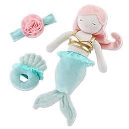 Baby Aspen® Mia the Mermaid 3-Piece Plush Toy, Rattle and Headband Set