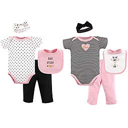 Hudson Baby® Size 0-6M 8-Piece Grow with Me Clothing Set in Grey/Pink