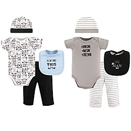 Hudson Baby® Size 0-6M 8-Piece Grow with Me Clothing Set in Black/Grey