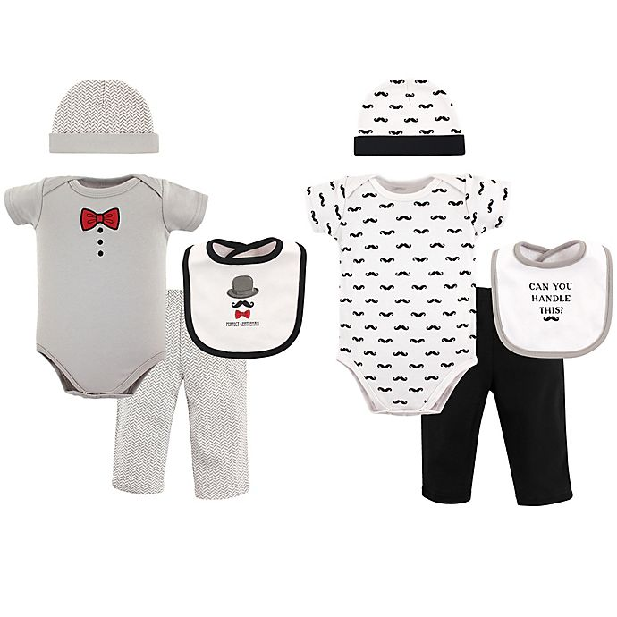 Alternate image 1 for Hudson Baby® Size 0-6M 8-Piece Grow with Me Clothing Set in Grey/Black