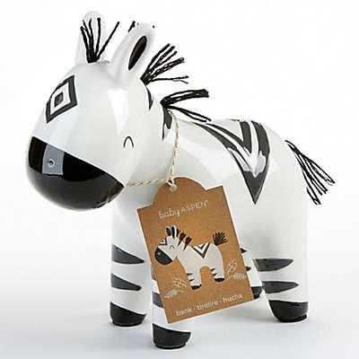 Baby Aspen Ceramic Zebra Bank in Black/White