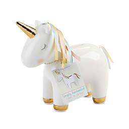 Baby Aspen Ceramic Unicorn Bank in Gold/White