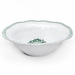 Q Squared Yuletide Melamine Serving Bowl in Green/White