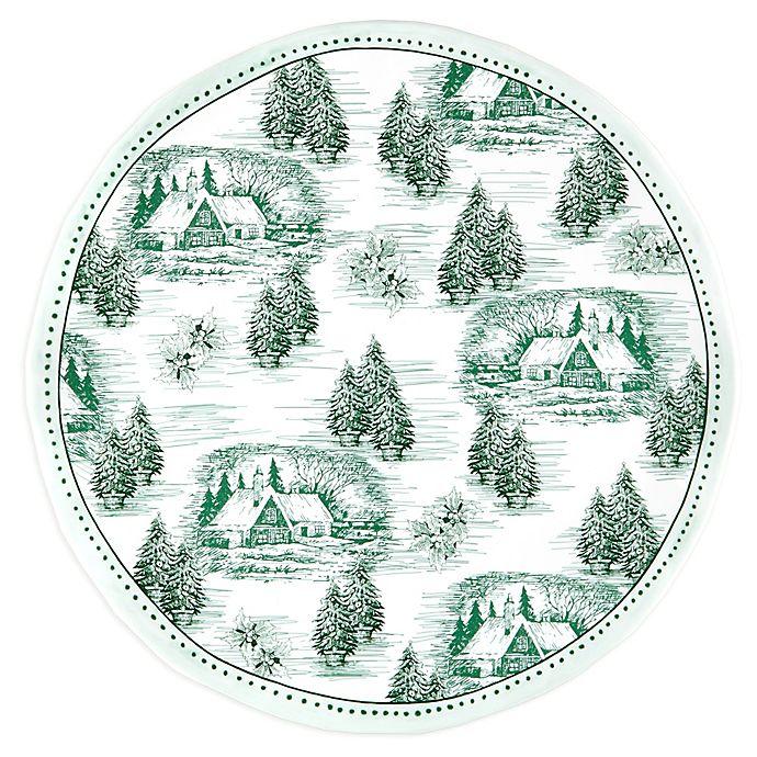 Alternate image 1 for Q Squared Melamine Yuletide Serving Platter in Green/White