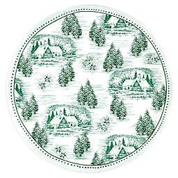 Q Squared Yuletide Melamine Serving Platter in Green/White