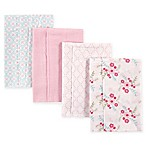 BabyVision® Luvable Friends® 4-Pack Layered Flannel Burp Cloths in Pink Floral