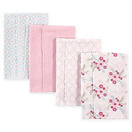 BabyVision® Luvable Friends® 4-Pack Layered Flannel Burp Cloths