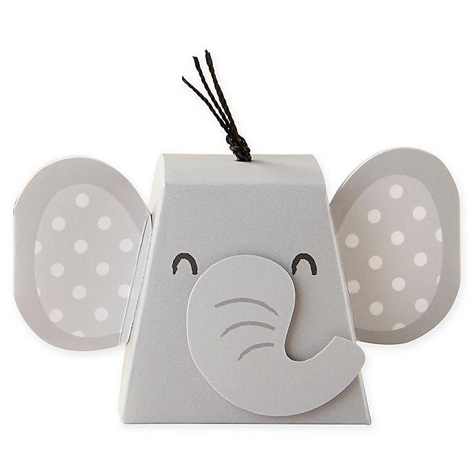 Alternate image 1 for Kate Aspen® 12-Pack Elephant Favor Boxes