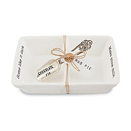 """Mud Pie® Circa 2-Piece """"Chocolate Fix"""" Divided Candy Dish in White"""