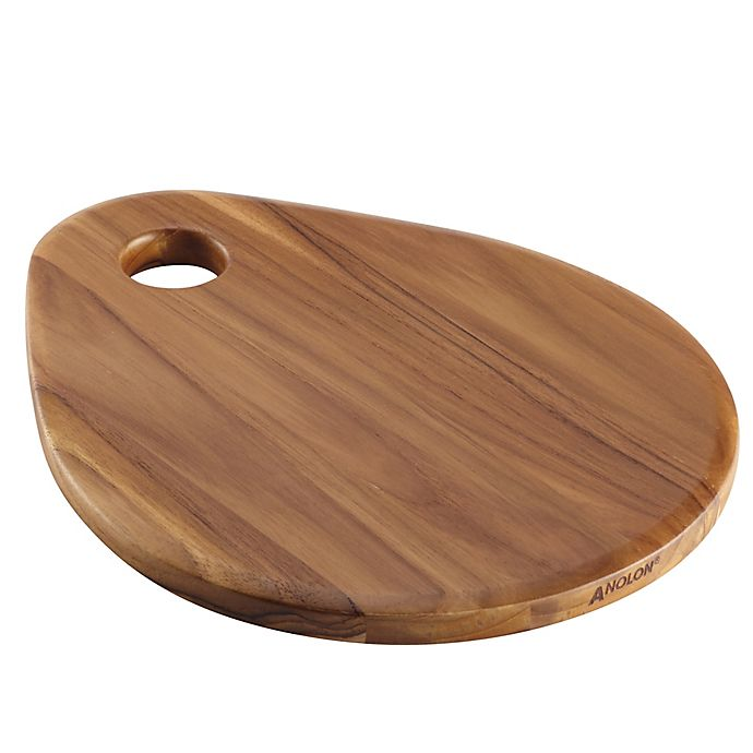Alternate image 1 for Anolon® Pantryware 12.5-Inch x 10-Inch Teakwood Teardrop Cutting Board