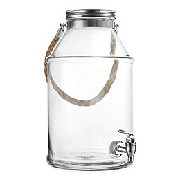Style Setter Maxwell Clear Beverage Dispenser with Rope Handle