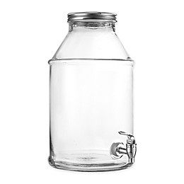 Style Setter Maxwell Clear Beverage Dispenser with Silver Lid