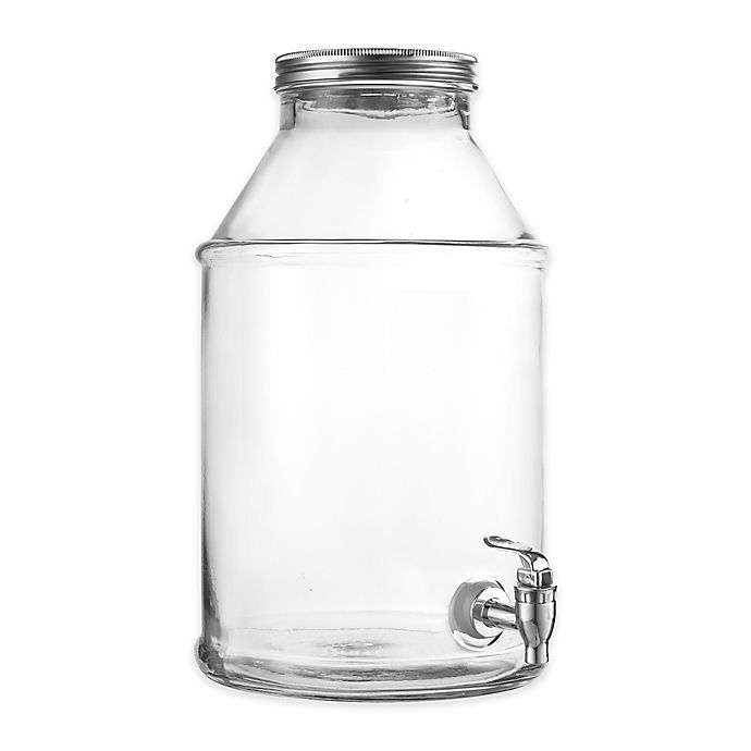 Style Setter Maxwell Clear Beverage Dispenser With Silver