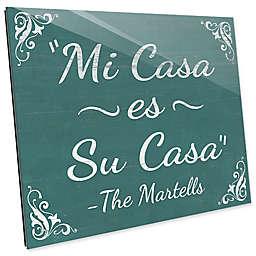 Astra Art Casa Teal 11-Inch x 14-Inch Acrylic Wall Art