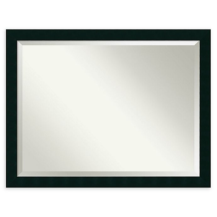 Alternate image 1 for Amanti Art Tribeca 30-Inch x 40-Inch Rectangular Bathroom Mirror in Black