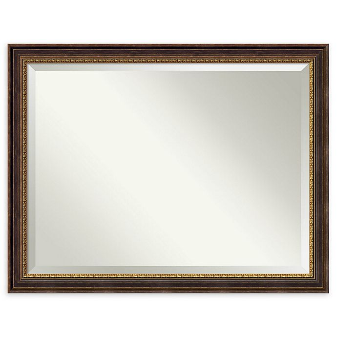 Alternate image 1 for Veneto 45-Inch x 35-Inch Rectangular Oversize Large Bathroom Wall Mirror in Distressed Black