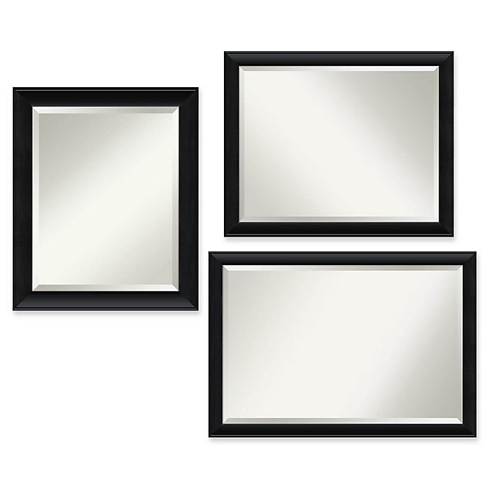 Alternate image 1 for Amanti Art Nero Bathroom Mirror