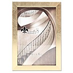 Lawrence Frames 4-Inch x 6-Inch Chloe Contemporary Picture Frame in Brushed Satin Gold