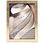 Lawrence Frames 5-Inch x 7-Inch Chloe Contemporary Picture Frame in Brushed Satin Gold