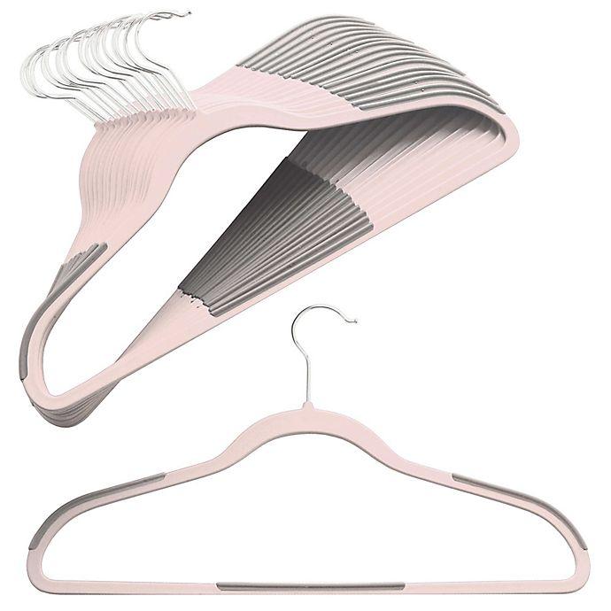 Alternate image 1 for Studio 3B™ Slim Grips™ Clothing Hangers in Rosewater (Set of 16)