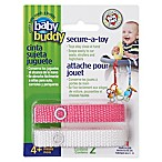 Baby Buddy® Secure-A-Toy in Pink/White (2-Pack)