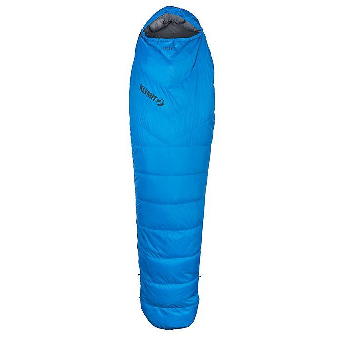 Alternate image 1 for Klymit KSB 35 Degree Adult Sleeping Bag in Blue
