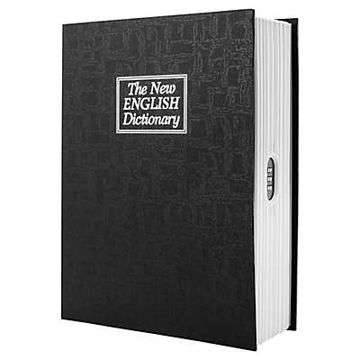 Barska Dictionary Book Lock Box with Combination Lock